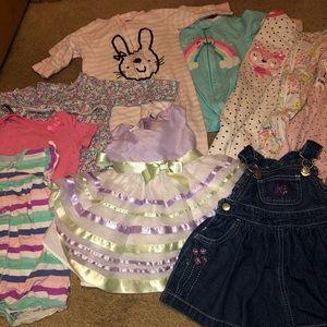 10 pc lot 6 / 6-9 / 6-12 months pjs Easter dress